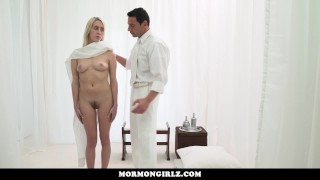 Blonde dick rides mormongirlzyoung babe a big pussy hard