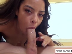 Maya jumps on her step dad cock hungry from some fat big cock