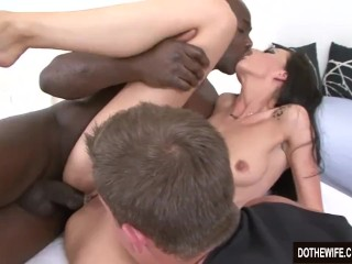 Sakura Uncensored Fucking, Black Stud Bangs Wife In Front of Wimpy Cuckold Hardcore Interracial Cuck