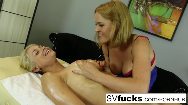 High density breast tissue - Sarah gets a deep tissue massage from krissy
