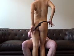 Getting A Nice Quick Fuck On Our New Couch After Work