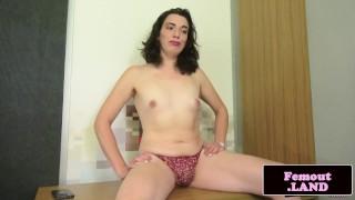 Titted cock jerking trans natural amateur braces solo