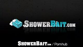 ShowerBait Straight guy David Plaza shower fucks Vincent James