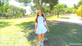 Kelly FTV - Breaking Innocence Public Park Group blonde