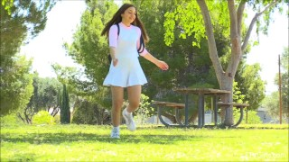 Breaking kelly ftv innocence public park tits skirt