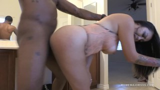 ROME Big Tit Milf Brianna Bentley slammed by BBC bb hard fast fuck big cock rough raven bathroom sex cim curvy mom drilled romemajorxxx thick big boobs cumshot mother doggystyle
