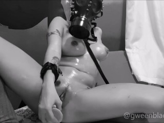 Riding Cock in Gas Mask