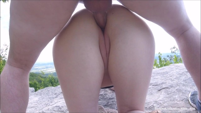 Adults only trael Public fuck and creampie risky trail clifftop sex
