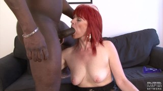 Lady man hardcore and fucked interracial mature swallows black pussy cum interracial orgasm