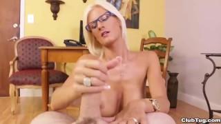 Horny employer POV handjob Sex boobs