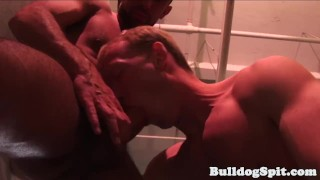 Throats bottom hunk muscle before fuck rough throat rimming