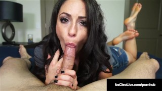 Freckled WebCam Hottie Its Cleo Milks Cum From A Hard Cock!