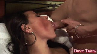 Guy a transsexual three and bangs a in way girl a blowjob kamila