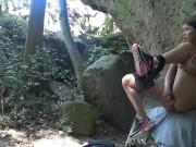 Jeune ado timide mais salope éjacule en pleine nature par Vic Alouqua