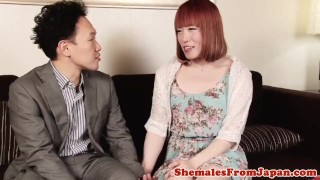 Newhalf lucky japanese assfucking dude shemale doggystyle
