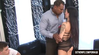 Trashy Wife Fucked by Black in Front of Hubby  ass fuck vaginal sex cuckold couple wife blowjob dothewife hardcore interracial brunette anal housewife pussy licking tiffany
