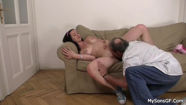 Old man young girl sex puss-9746