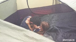 Caught Fucking Hard In Friends Tent Camping Hard cum