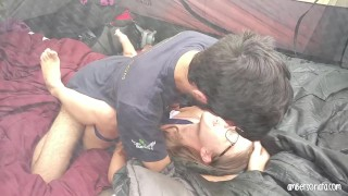 Caught Fucking Hard In Friends Tent Camping Pussy dick