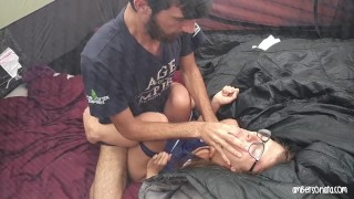 Caught Fucking Hard In Friends Tent Camping Sex hardcore