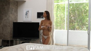 SpyFam Sneaky step sister Charity Crawford slithers into step brothers bed  charity crawford hd blowjob small tits fetish hardcore brunette 60fps sex stepsister facial step brother spyfam 4k step sister spy