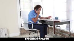 DaughterSwap - Gamer Teen Fucked By Older Dad