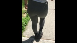 Wife see through spandex in public vpl