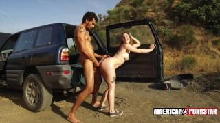 Ella Nova + Alex Jones' Roadside RimJob @ American-Pornstar