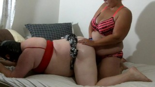 Sissy Femdom pegging - Sissy takes strapon in ass with cum licking off wife  strapon cum femdom cum feeding ass fuck sissy cum swallow femdom strapon guy sissy strapon femdom cumshot bbw femdom femdom strapon femdom sissy kink sissy cum from anal bbw femdom strap on cum licking sissy cumshot