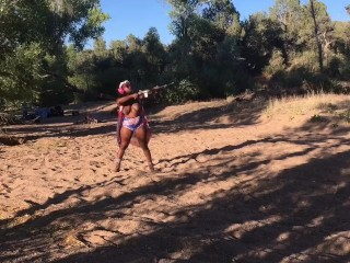 Suzy Favor Nude Camping. 4th Of July. Outdoor. Scenic. Topless Shooting. Fast Fingering, Amateur Big