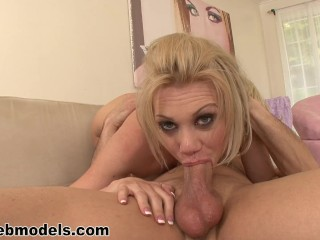 Perfect Gonzo Discount Fucking, Blonde Coed SAMANTHA SIN amazing Deepthroat Blowjob Cum Swallow WOW a Babe Big