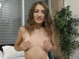 Shiloh Sharada masturbating and sucking a cock hard