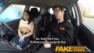 Fake Driving School half Asian tiny student fucks for free lessons big cock driving instructor mixed race driving school asian british blowjob sex in car tutor cumshot fds instructor interracial fakedrivingschool reality car sex