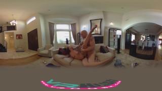 VRHUSH Naughty brunette Adriana Chechik pussy pounded hard