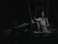 Fucking A Dildo Outdoors At Night | better porn: freckledred.manyvids.com