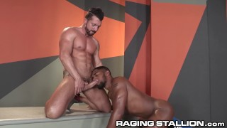 RagingStallion Jimmy Duranos Hard Cock for Ebony Hunk