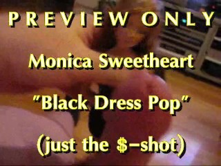 PREVIEW Monica Sweetheart Black Dress Pop