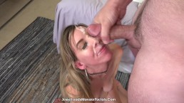 petite taylor kate gets creamy facial