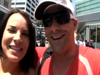 pro slut Dana DeArmond and me cruising Hollywood Blvd