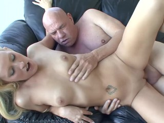 Very Young Teen Gets Her Barley Legal Pussy Fucked By Oldman