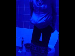 Teen Girl Toilet Voyeur Blacklight