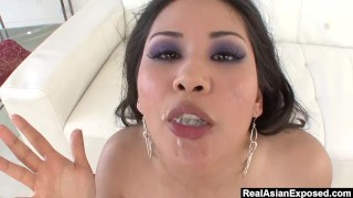 RealAsianExposed - Jessica Bangkok always chooses cock over her didlo.  big booty throat fucking big tits choking asian thick rough drilled deepthroat realasianexposed big boobs choke toying natural tits trimmed pussy cum in mouth