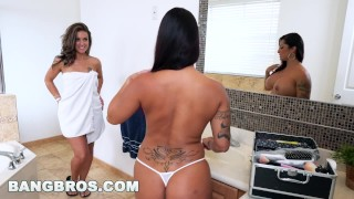 BANGBROS - Double Spanking Fun with Spicy J, Victoria Banxxx and Kiley Jay Natural spanking