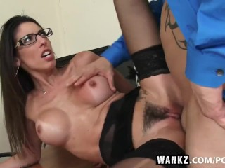 WANKZ- Dava Foxx Blows Her Boss for Job