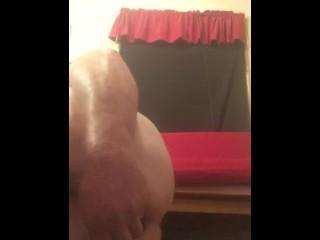Double penetration huge butt plug and huge dildo
