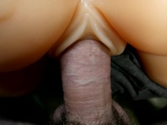 Fucking My Toy Slowly Close Up with Cum All Over the Ass