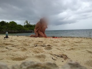 Hot sex on a hidden beach of small island!!!
