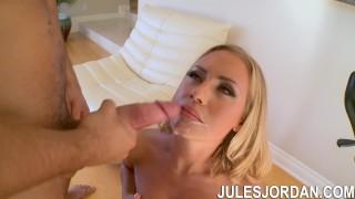 Jules Jordan - Nicole Aniston Blonde Takes On A Big Cock