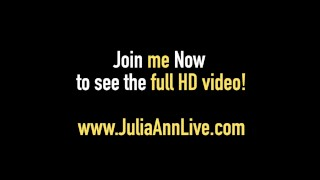 Mega Milf Julia Ann Strips & Bangs Her Pussy until She Cums!