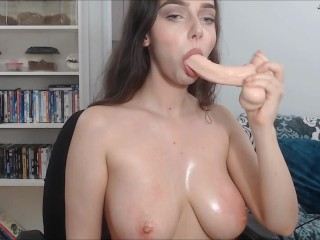 The Adult Video Experience Presents Super Sloppy Deepthroat Dildo Blowjob on Cam